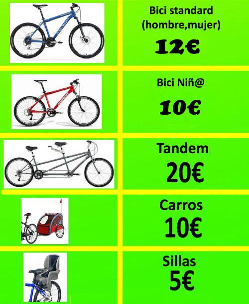 Alquiler de bicicletas via verde de la sierra coripe y olvera